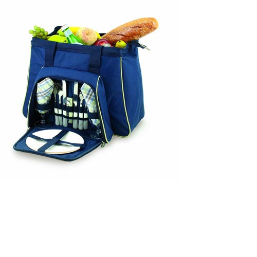 Picnic Time Toluca Insulated Cooler Tote for 2, Blue #401-42-138, , large