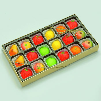 Marzipan Fruit Gift Tray - 18pcs., , large
