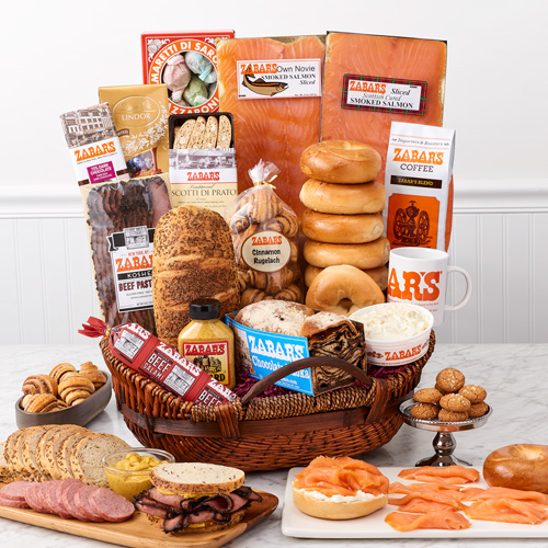 Bagels gifts quintessential zabars basket negle Choice Image