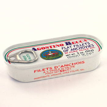 Agostino Recca Flat Fillets of Anchovies - 2oz.