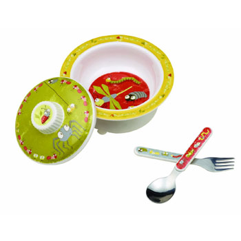 SugarBooger by O.R.E. Baby Bowl Set - (Icky Bugs)