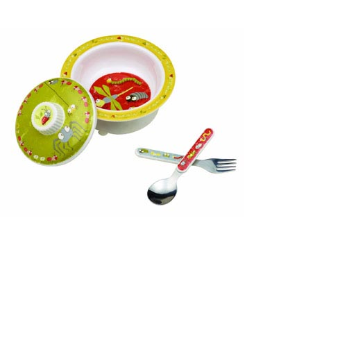 SugarBooger by O.R.E. Baby Bowl Set - (Icky Bugs), , large