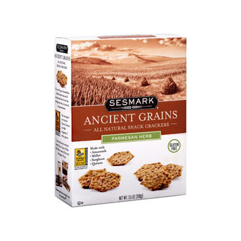 Sesmark Ancient Grains Snack Crackers - 3.5oz (Kosher)