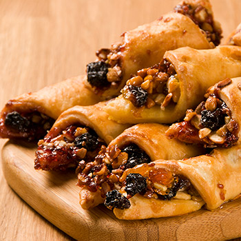 Erica's Juice Sweetened Apricot & Raspberry Rugelach - 14oz  (Kosher)