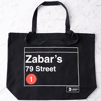 Zabar's 79th Street Subway Tote Bag, , large