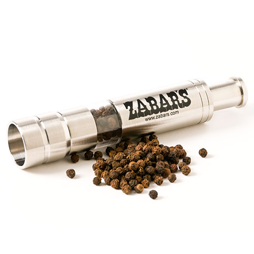 "Zabar's Stainless Steel Pump & Grind Peppercorn Grinder 5-1/2"", , large"