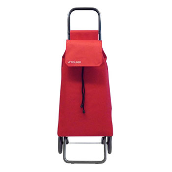 Rolser 2 Wheels Compact Shopping Cart Red