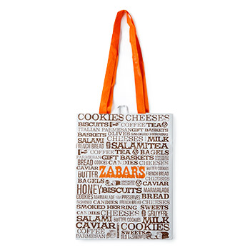 "Zabar's Reusable Shopping Tote - 9x11"" Words, , large"