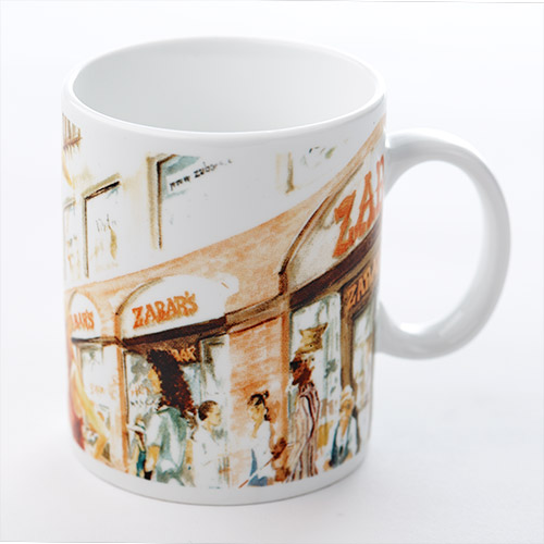 Zabars Design Porcelain Mug - 16oz, , large