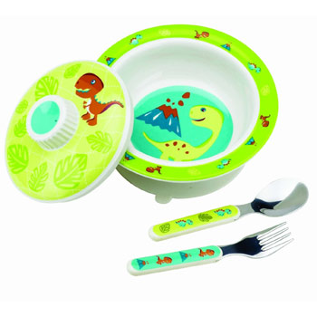 SugarBooger by O.R.E. Baby Bowl Set - (Prehistoric Pals)