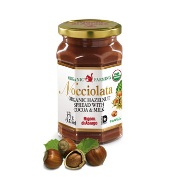 Rigoni di Asiago Nocciolata Organic Hazelnut Spread with Cocoa and Milk - 9.52 oz (Kosher), , large