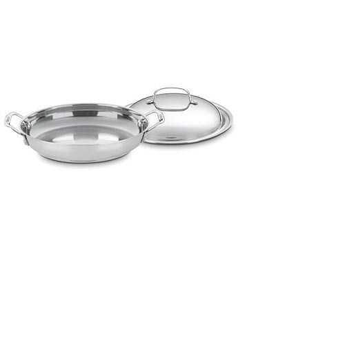 "Cuisinart Chef's Classic Stainless Steel 12"" Everyday Pan  #725-30D, , large"