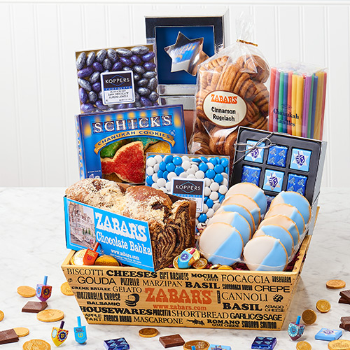 Zabars eight nights of chanukah gift tote eight nights of hanukkah crate kosher large negle Image collections