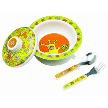 SugarBooger by O.R.E. Baby Bowl Set - (Hungry Monsters), , large
