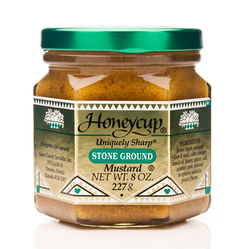 Honeycup Uniquely Sharp Stone Ground Mustard - 8oz