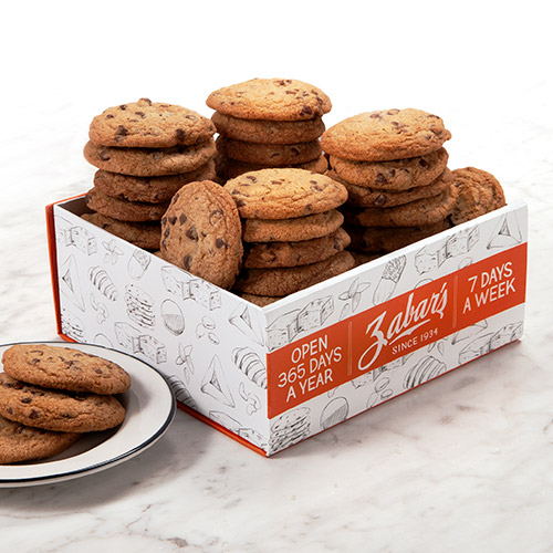 Zabar's Chocolate Chip Thin & Crispy Cookie Box - Approx. 24 oz. (Kosher), , large