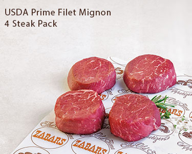 USDA Prime Filet Mignon 4 Steak Pack
